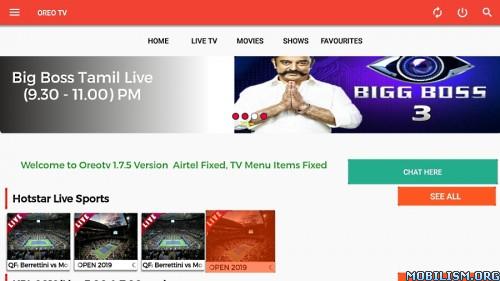 Download)++OREO TV v1 7 5 [Ad-Free By Default]Apk Premium