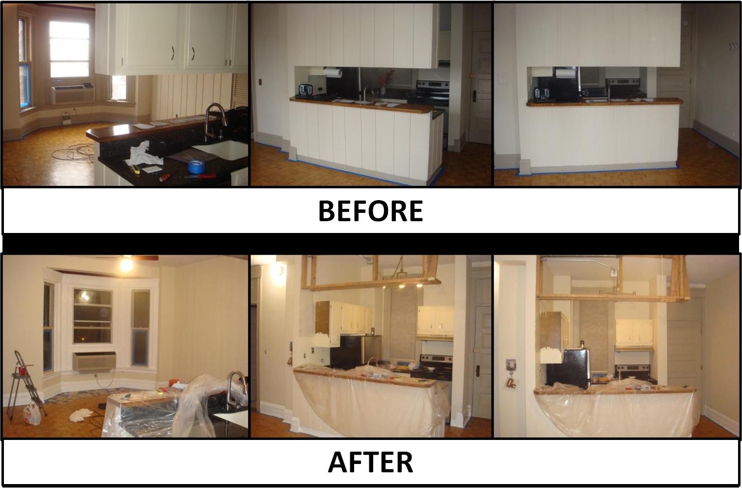 Removing Wood Paneling Before And After My Web Value