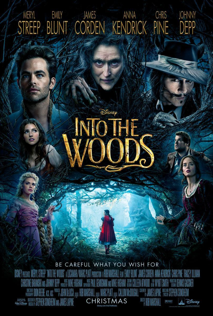 into the woods, película, crítica, Meryl Streep, Emily Blunt, James Corden, Anna Kendrick, Chris Pine, Johnny Depp, Lucy Punch, Christine Baranski, Tammy Blanchard, Daniel Huttlestone, Tracey Ullman, Mackenzie Mauzy, Billy Magnussen, Lilla Crawford, Richard Glover, Simon Russell Beale, Joanna Riding, Annette Crosbie