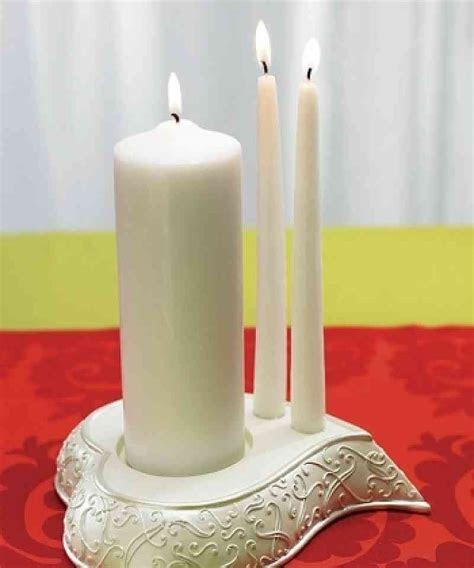 Stylized Heart Wedding Ceremony Unity Candle Holder