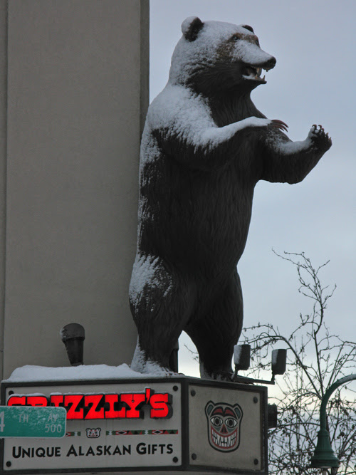 Grizzly's sign, Anchorage, Alaska