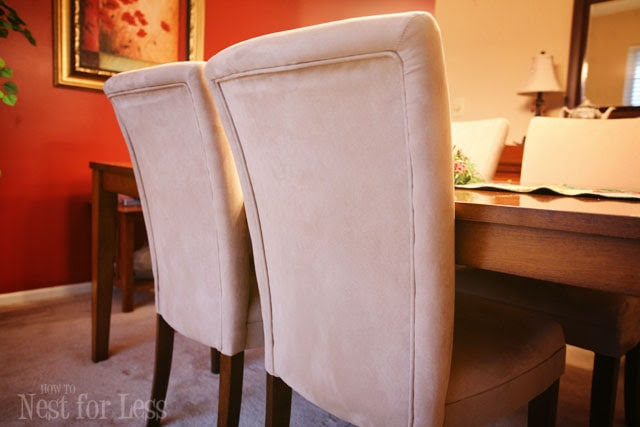 Pinterest Project: Parson Chair Covers for Christmas - How to Nest ...
