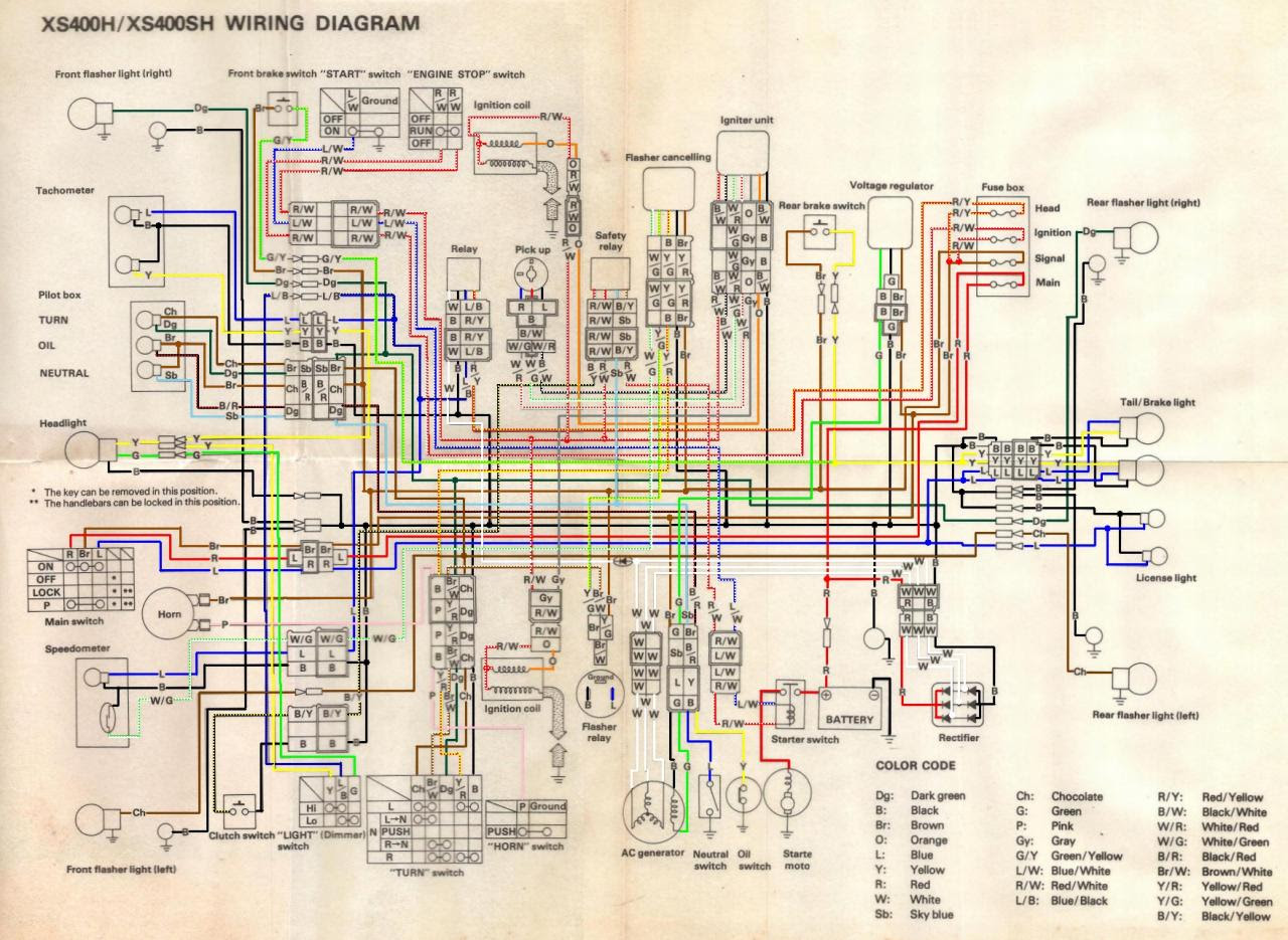 1982 Yamaha Maxim 400 Wiring Diagram Wiring Diagram Productive Productive Zaafran It
