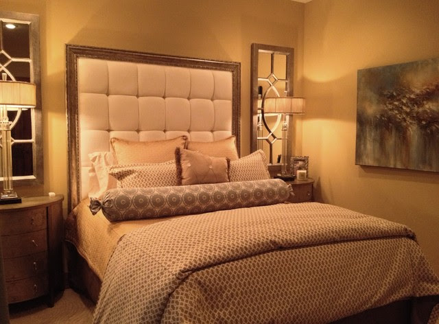 Elegant Master Bedroom in a small space. - eclectic - bedroom ...
