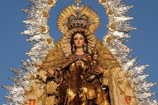 Resultado de imagen de Horario e Itinerario Salida Procesional de Ntra. Sra. del Carmen, desde la Capilla de la Santa Cruz del Rodeo en Sevilla
