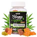 Juve Naturals Hemp Gummies for Pain and Anxiety, Sleep, Stress and Inflammation Relief, Focus, Immunity Boost | Natural Vitamin C | Made in USA with Hemp 100% Natural and Safe | Tasty | Omega 3, 6, 9