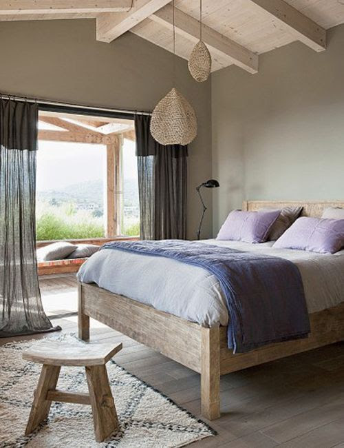Dormitorio principal  de La casa de la colina en Córcega