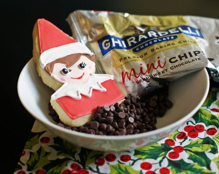 elf on the shelf decorated cookie tutorial...without a cookie cutter! from @bakeat350