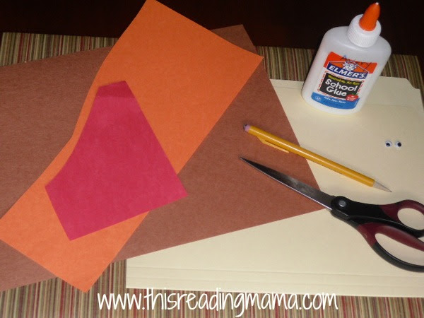 materials needed for table-top Thanksgiving name cards