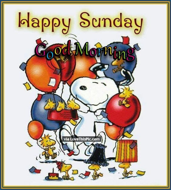 Snoopy Happy Sunday Good Morning Party Quote Pictures Photos And