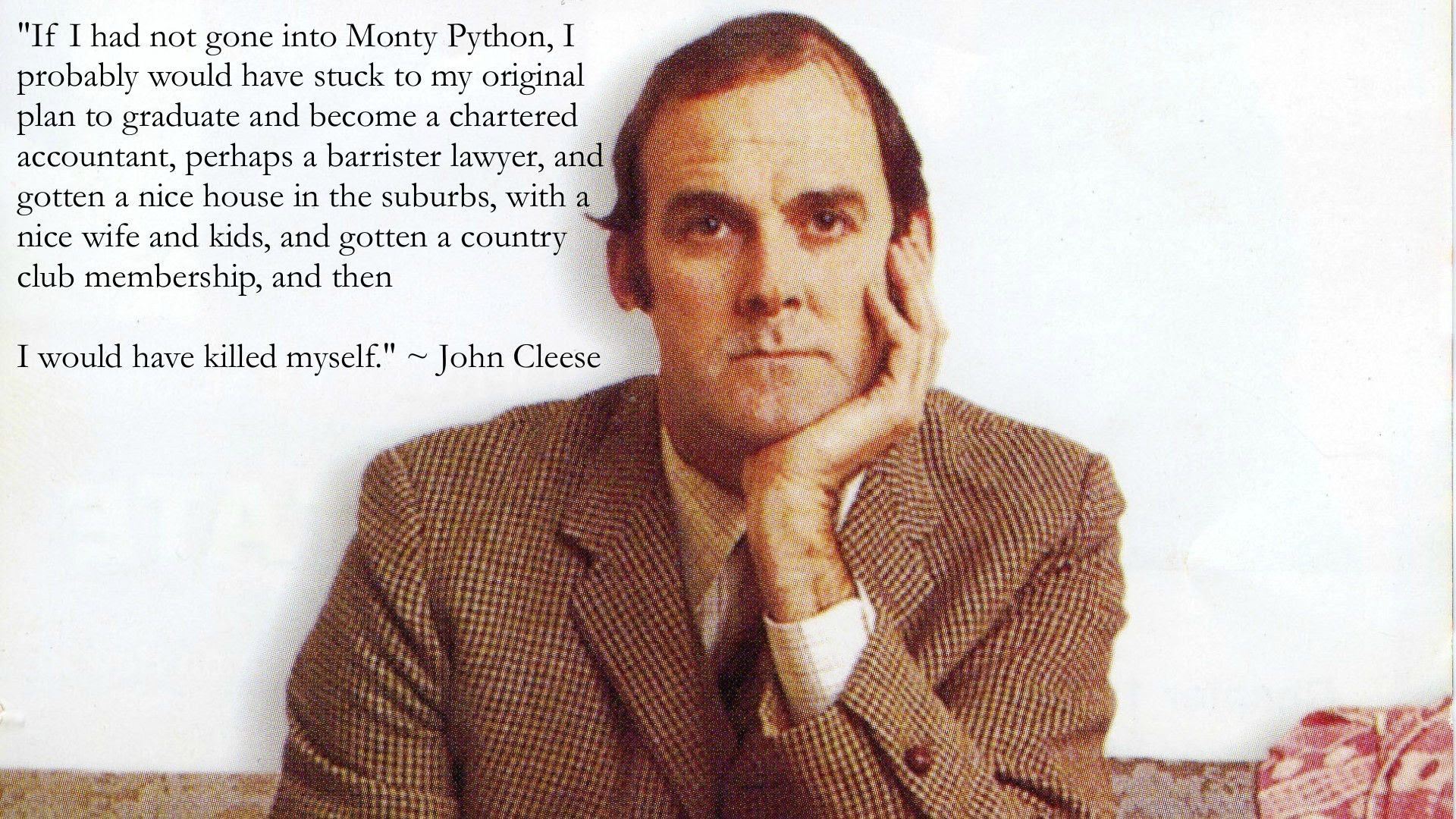 If I Had Not Gone Into Monty Python John Cleese 1920x1080