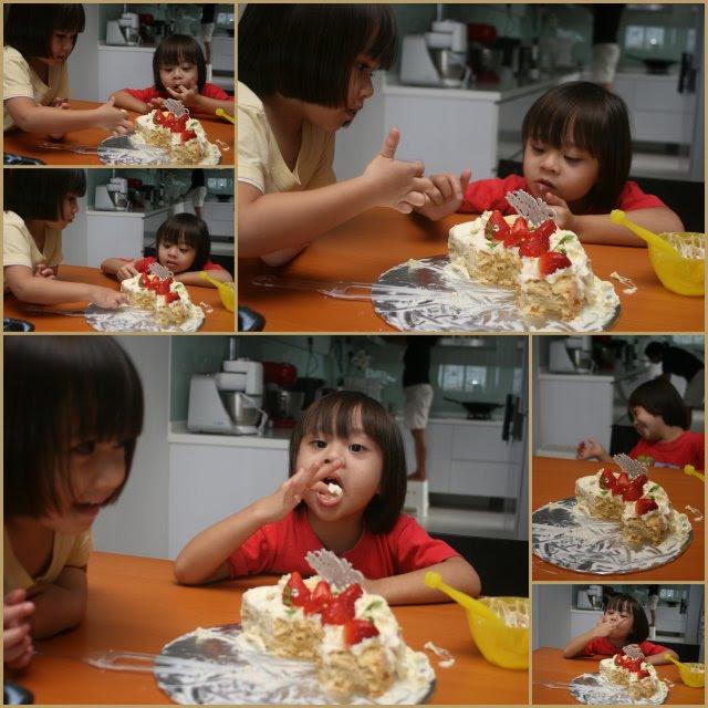 Ravaging the birthday cake