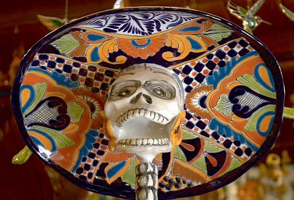 El Dia De Los Muertos Mexican Day Of The Dead Hat Sculpture