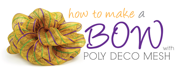 How To Make Bow Out Of Decorative Mesh