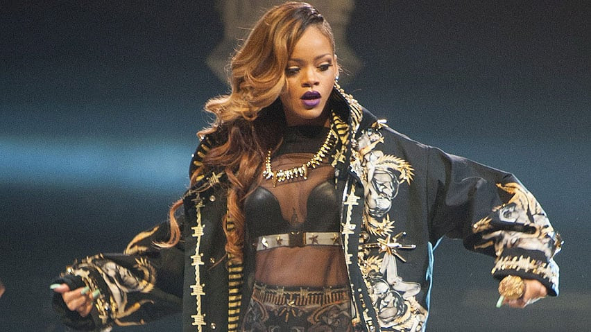 Rihanna, seen performing in Toronto in March, postponed another date on her Diamonds tour due to illness.