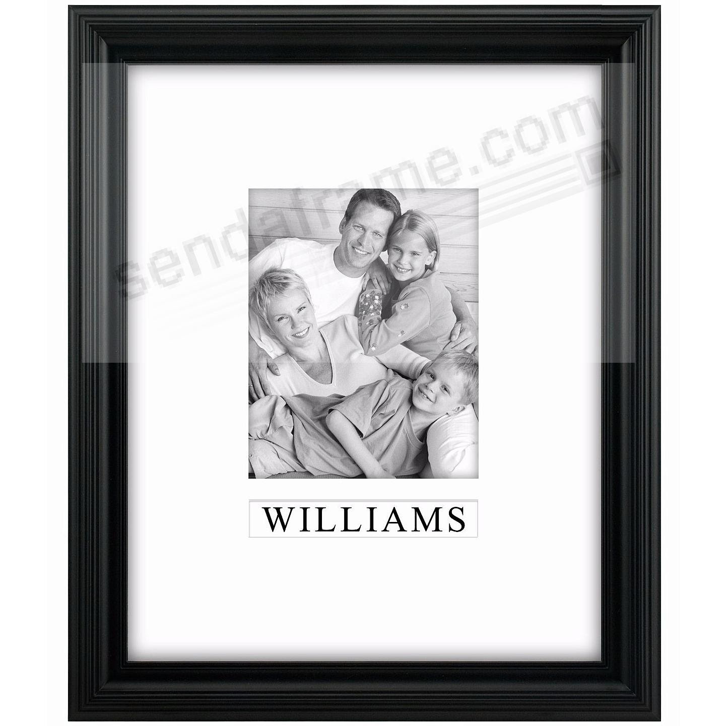 Black Portrait Personalized Matted 11x148x10 Stepped Frame By