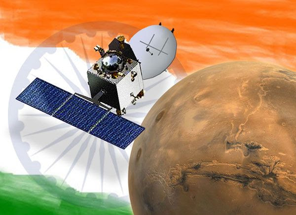 An artist's concept of India's Mars Orbiter Mission spacecraft.