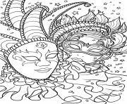 Coloriage Masque De Carnaval Venise Adulte Jecoloriecom