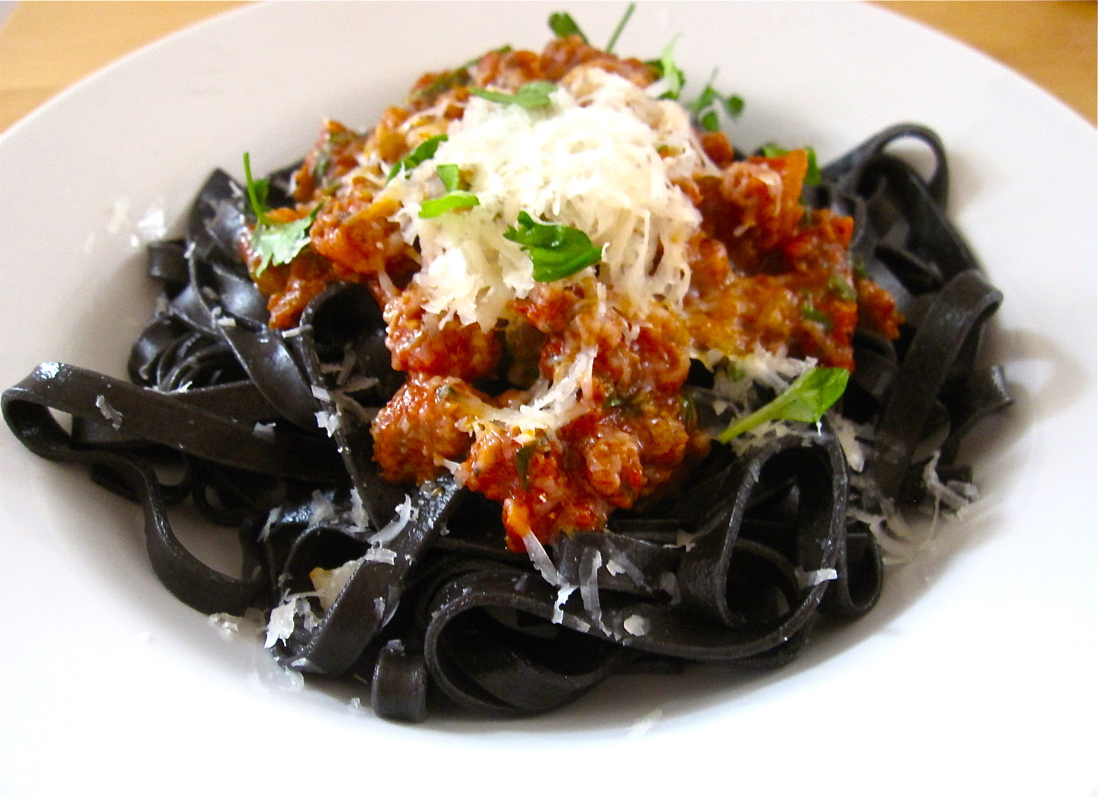 Squid ink pasta and easy bolognese - eatpress