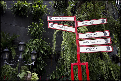 The Botanic Garden is well signposted