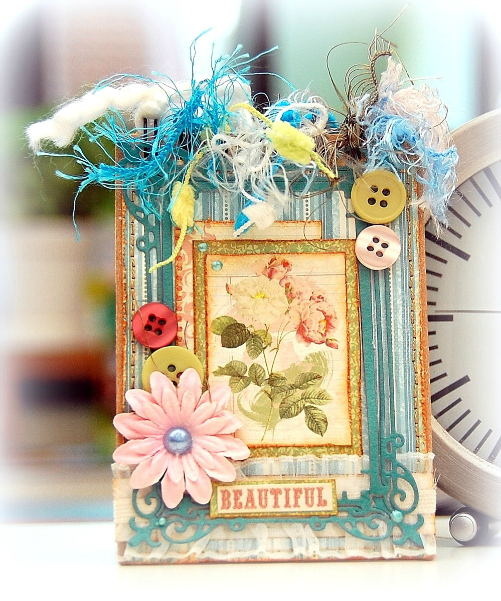 Altered Journal by Irene Tan using BoBunny Garden Journal collection