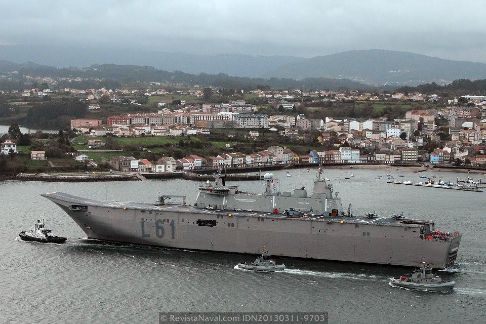 El «Juan Carlos I» se convertirá en la única plataforma de aeronaves de ala fija de la Armada española tras la baja del «Príncipe de Asturias» (Foto: Xoán Porto/Revista Naval)