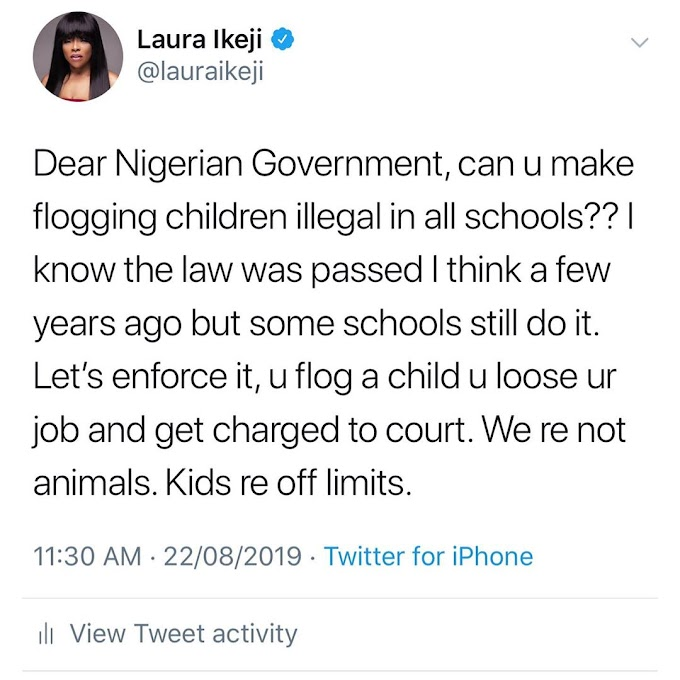 IKEJI BEGS FEDERAL GOVERNMENT: Stop the flogging of children in school