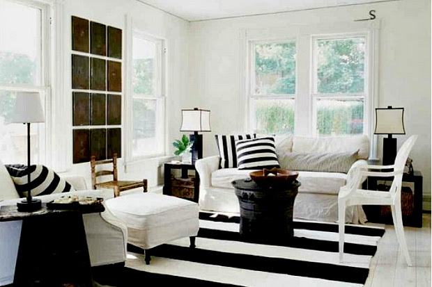 Interior design trend spotting - classic black and white décor