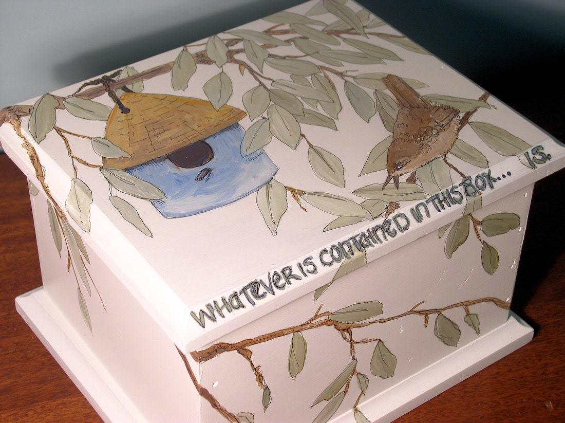 Keepsake Creation Box Painted Birdhouse and Wren