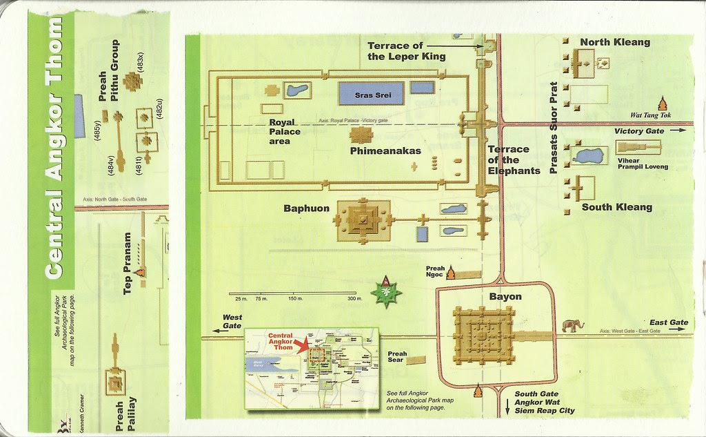 Angkor Thom Map, Siem Reap