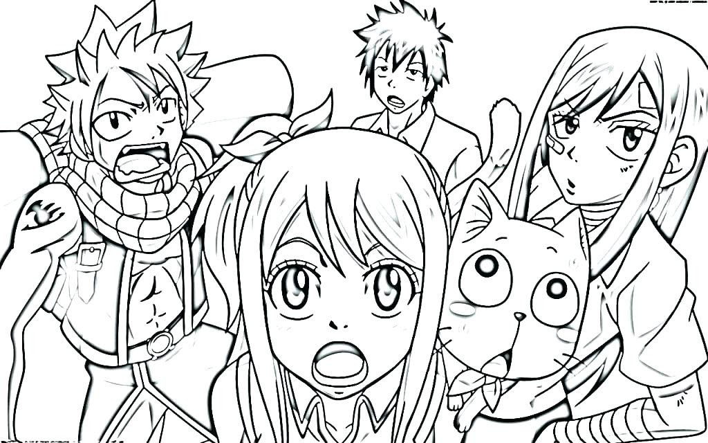 Fairy Tail Coloring Pages at GetColorings.com | Free ...