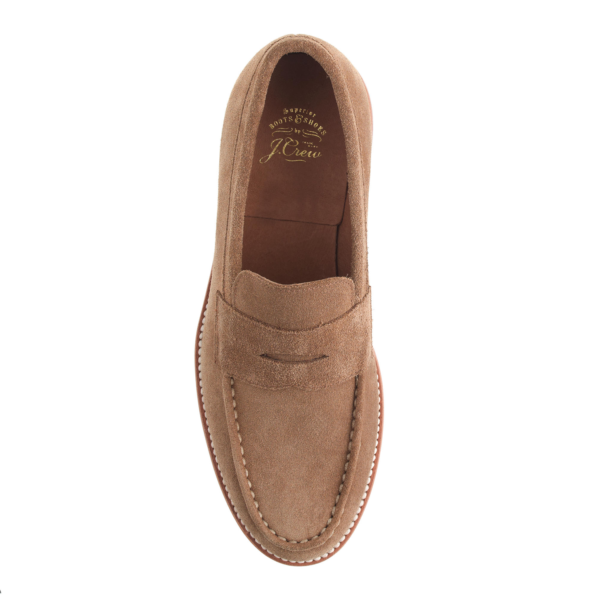 J.crew Kenton Suede Penny Loafers in Brown for Men (sahara ...