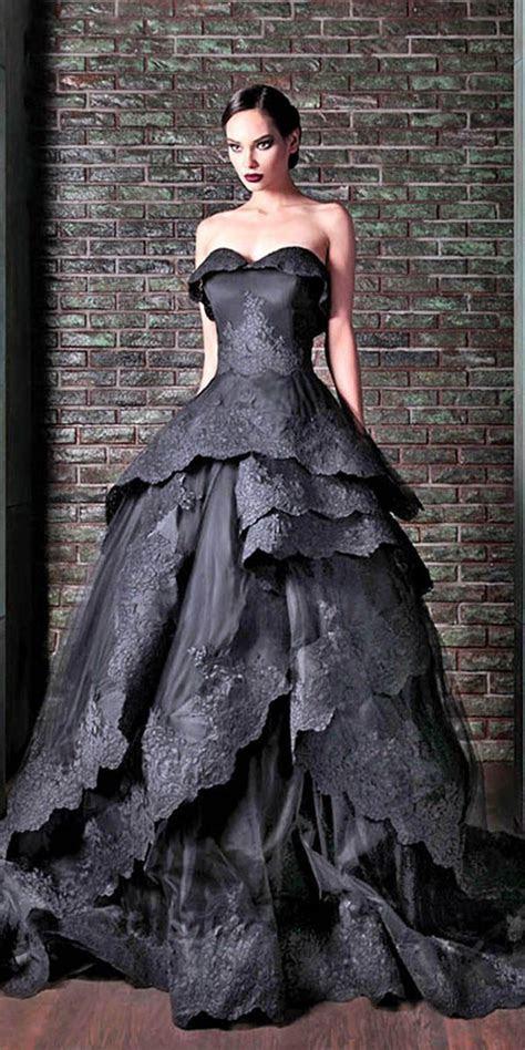 21 Black Wedding Dresses With Edgy Elegance   Wedding