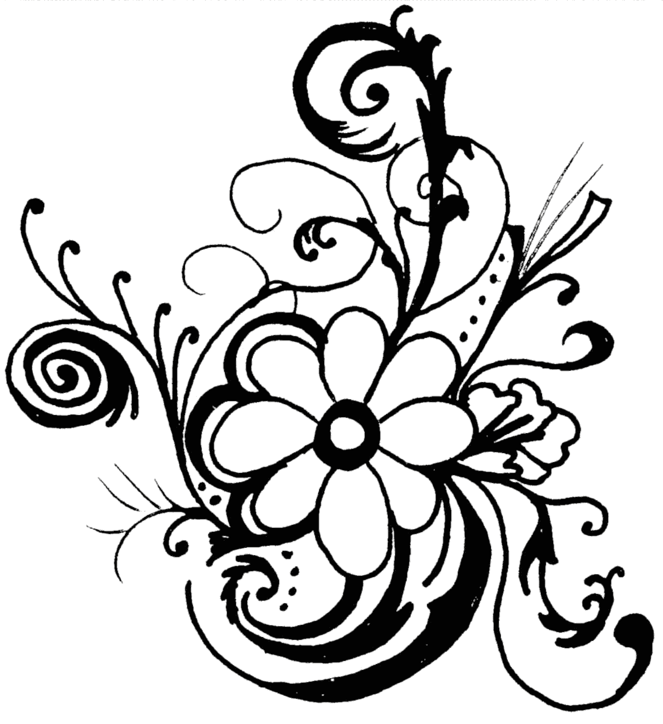 Free Line Art Flower Download Free Clip Art Free Clip Art On Clipart Library