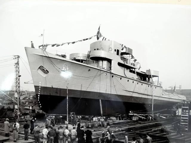 A Corveta Imperial Marinheiro no seu lançamento ao mar na Holanda
