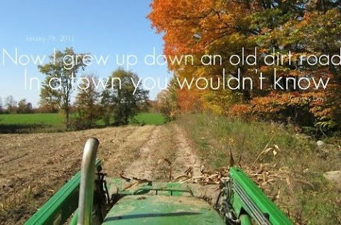 Now I Grew Up Down An Old Dirt Road Lyrics