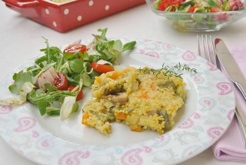Millet and Vegetables au Gratin