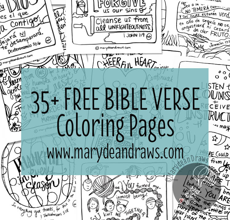 Free Bible Verse Coloring Pages (35+ Pages!) | Free ...
