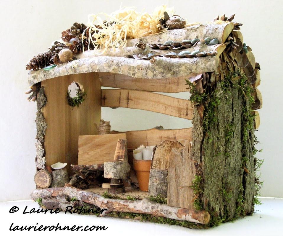 custom sculpted woodland fairy houses