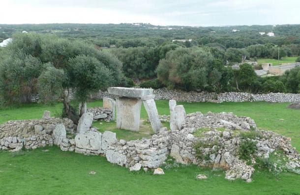 Talatí de Dalt sitio arqueológico, Menorca, España.