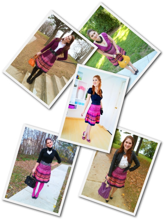 How to wear a Patterned Skirt