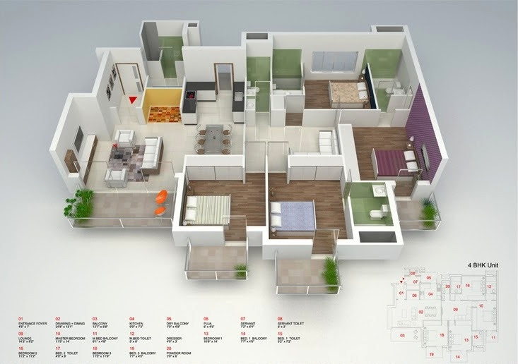 4 Bedroom Flat Interior Design Ideas