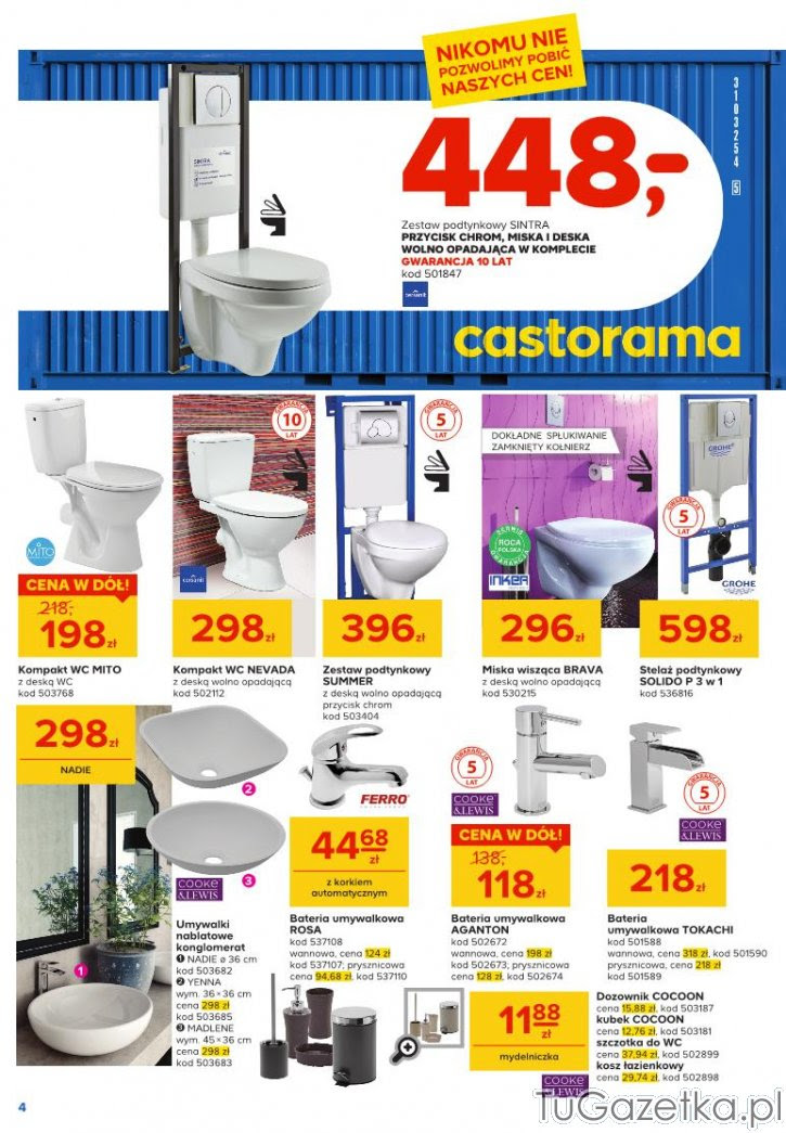 Wc Ceramika Castorama łazienka Tugazetkapl
