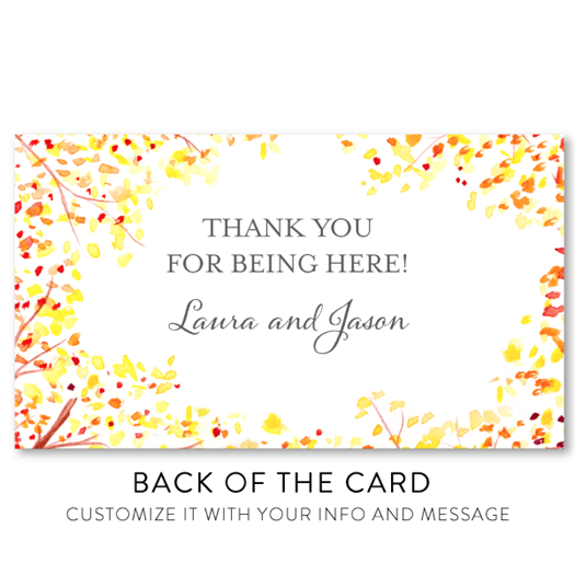 Fall Meadow - Place Card Back