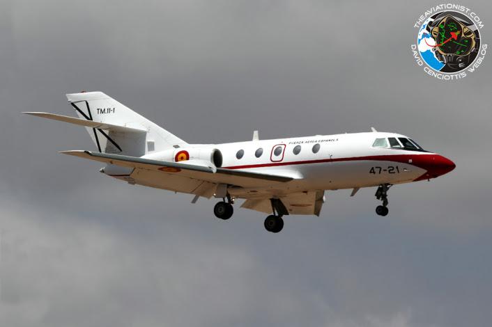 TM.11-1: 47-21. Falcon 20E. 472 Esc. EDA. Visto aquí arr Gando con mal tiempo de Torrejón de Ardoz.10.09.2014