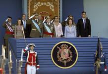 La familia real al completo en el palco de autoridades