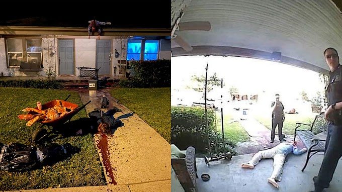 TREND ESSENCE: Texas man's gory Halloween decorations have police constantly visiting