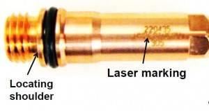 locating shoulder on plasma electrode