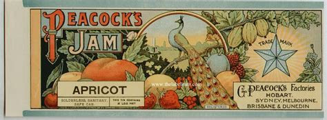 vintage jelly labels peacocks vintage apricot jam