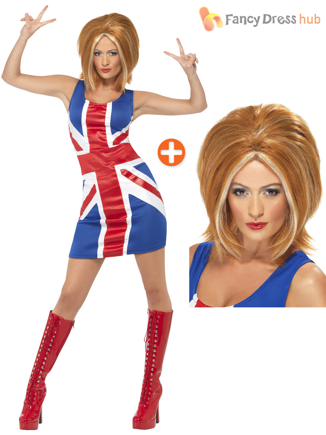 ladies ginger spice costume adults spice girls fancy dress